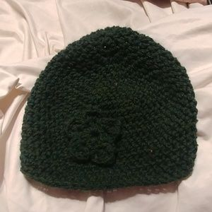 Knitted Beanie with little Flower